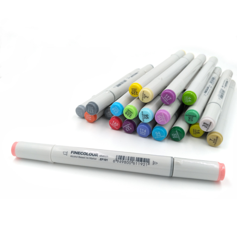 Finecolour Alcohol Based Art Markers self-selection 6 Colors set Sketch Color Marker Pen Manga Marker For Drawing <br><br>Aliexpress