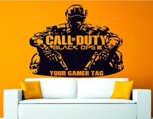 Wall Decal Vinyl Call Of Duty Game Sticker Custom Your Gamer Tag Bedroom Living Room Art Design Removable Mural Poster  WW-351