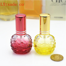 Wholesale Free Shipping 8ml Bl BAll Glass Spray Parfum Bottle Pink yellow Blue Wed Purple Empty Packaging Perfume Bottles(China)