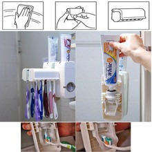 Automatic Toothpaste Dispenser Set Tooth Brush toothpaste Holder Tooth Paste Tube Squeezer Bathroom Accessories(China)