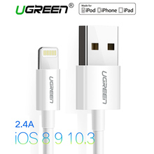 Ugreen USB Cable for iPhone 8 2.4A MFi Lightning to USB Cable Fast Charger Data Cable For iPhone 7 6 5s iPad Mobile Phone Cables(China)