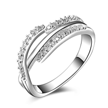 JEXXI Cost Retail  Classic Pure 925 Sterling Silver Fashion Women Ring New Arrival Brand New Unique Design Inlay Zircon Jewelry