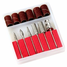 6pcs/set Nail Drill Kit Bits file Professional For Electric Drills & Filling System nail drill bits device for manicure
