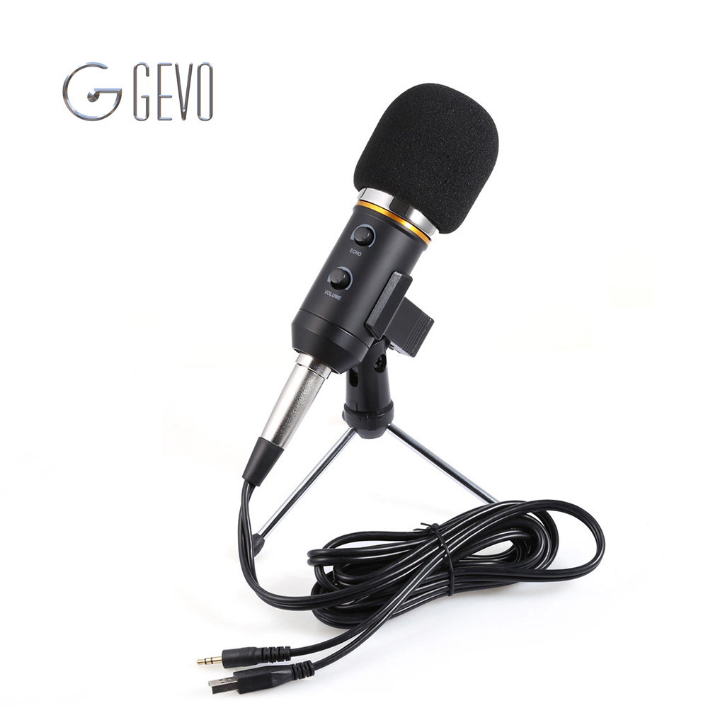 MK-F200FL Professional Microphone Wired Recording USB Condenser Microphones With Tripod For Computer Karaoke Mikrofon Microfone(China (Mainland))