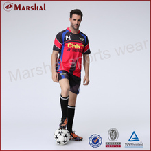 Minimum Order 5 Piece Cheap Soccer Uniform Sublimation Printing embroidery logo Custom Unique Design