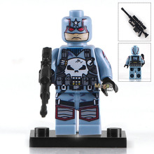 Single Sale PG216 Captain Punisher With Weapon Marvel Super Heroes Building Blocks Bricks Learning Children Gifts Toys PG8058