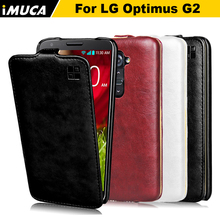 iMUCA Phone Cases For LG G2 Case Cover Vintage Flip Leather Case Coque For LG Optimus G2 D802 Anti-knock Phone Shell Funda