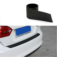 1Set Black Rubber Rear Guard Bumper Protector Trim Covers Sticker For KIA Toyota VW BMW Lada Seat Opel For Nissan Honda Hyundai
