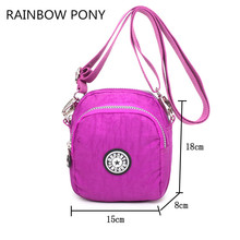 RAINBOW PONY 2017 New Style Women Nylon Bag Small Portable Fashion Shoulder Bag Messenger Bags Girl Casual Crossbody Bag CH011