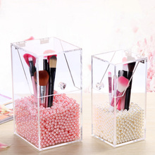 Brand New Clear Acrylic Makeup Holder Pen Organizer DIY Brushes Holder Case Cosmetic Display Box 1500Pcs Diameter 6mmFaux Pearls