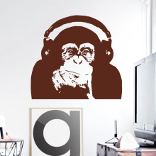 Art Design home decoration Vinyl Caesar monkey music Wall Sticker Rise of the Planet of the Apes orangutan room decor decals(China)