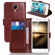 GUCOON Vintage Wallet Case for Micromax Canvas Spark 2 Pro Q351 PU Leather Retro Flip Cover Magnetic Fashion Cases Kickstand