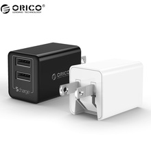 ORICO WHA USB Charger Travel Charger Portable 2 Ports Smart USB Charger with Foldable Plug(China)