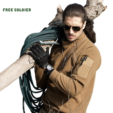 FREE SOLDIER Outdoor Sports Tactical Fleece Fabric Men's Coat For Male For Camping Hiking Outerwear Winter Clothing(China)