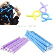 10X Soft Foam Sponge Curler Rollers Bendy Twist Curly Hair Makers DIY Styling Hair Rollers Tools Brand New Popular Magical