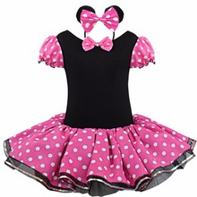New 2017 Princess Baby Girl Dance Clothes Party Dress Costume Vestidos Cartoon Minnie Dresses Dot Girls Christmas Outfits