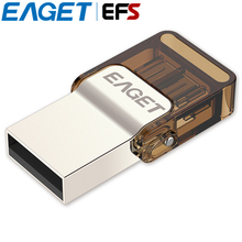 Official Licensed EAGET V9 USB 2.0 8gb 16gb 32gb Ultra Thin Rotation Cap Metal USB Flash Drive Portable OTG USB Stick Pendrive(China)