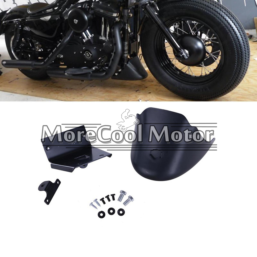 Matte Black Lower Front Spoiler Chin Fairing for Harley Davidson Sportster 2004-2014 XL883 XL1200 ESPEAR Q30<br><br>Aliexpress