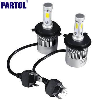 S2 72 W H4 H7 H11 COB LED Phare Ampoules Conversion Kit 8000LM 6500 K Unique Salut-Lo Faisceau Tout En Un De Voiture LED Phare Brouillard Lumière 12 V