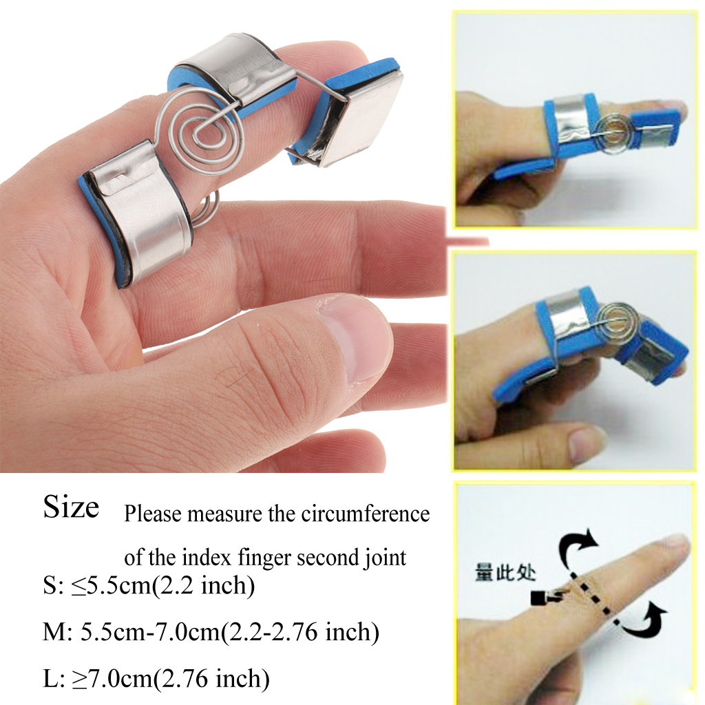 Trigger Mallet Finger Splint Support Brace Straighten Curved Bent Practice