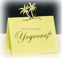Pearl cardboard Laser cut place card, wedding dinner party table Seating guest name cards, 200PCS/lot, Free Shipping
