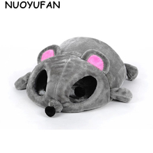 NUOYUFAN Grey Pet House Cats Dogs Bed Removable Cushion Waterproof Bottom Pet Cat House