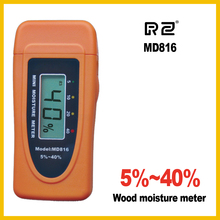 Free shipping MD816 Wood Bamboo Cotton Paper Digital Moisture Meter Tester Timber Damp Detector LCD two pin