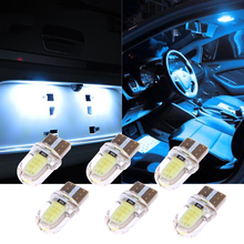 10 Pcs W5W 168 194 T10 COB Silicone Lights car Show Wide Lights Reading trunk map Lights Parking Bulb Car Light Source(China)