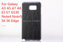 Luxury Black Crocodile Pattern Case Cover For Samsung Galaxy J1 A3 A5 A7 A8 E5 E7 G530 Note 4 Note 5 S6 S6 Edge S6 Edge Plus +..