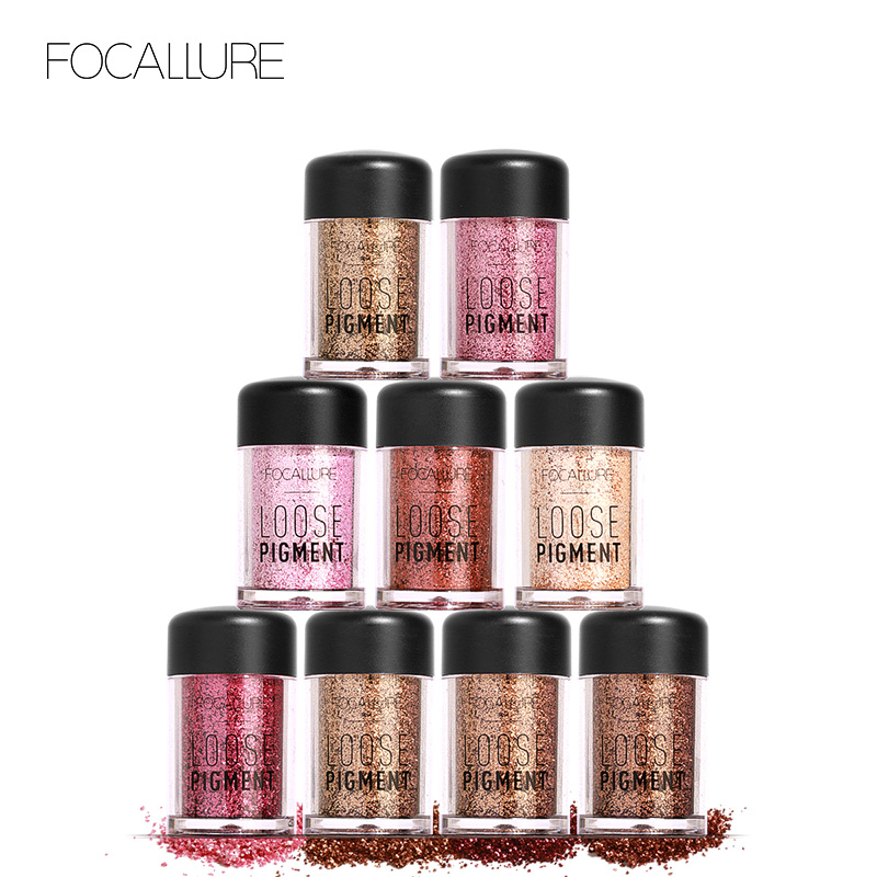 Focallure 12 Colors Glitter Eyeshadow Diamond Lips Loose Makeup Eye Shadow Highly Pigment Powder Drop Shipping Year-End Bargain Sale Eye Shadow