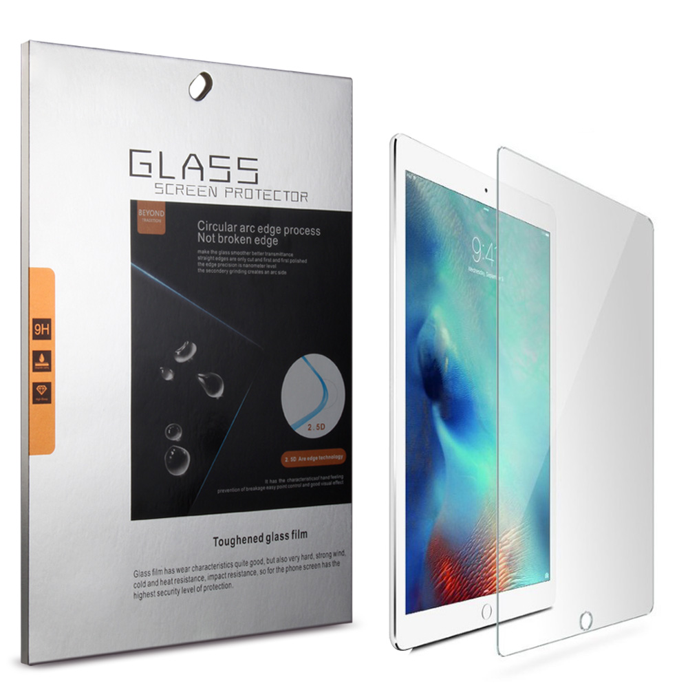 High Quality 9H Tempered 0.18mm thickness Glass Screen Protector for iPad New 2017 2018 Air 2 Pro 9.7 inch Protective Guard Film