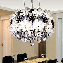 Crystal combination lamp led flower crystal pendant light Apply space: restaurant dining room is the ZL368