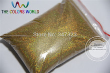 TCA200 0.05mm 002 Laser GOLD Color holographic Glitter Powder for nail,tatto art decoration Wholesale DIY dust(China)