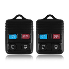 2 Pcs 4 Button Replacement Remote Key Keyless Entry Fob Transmitter Beeper Alarm for Ford Lincoln Mercury 1998-2011