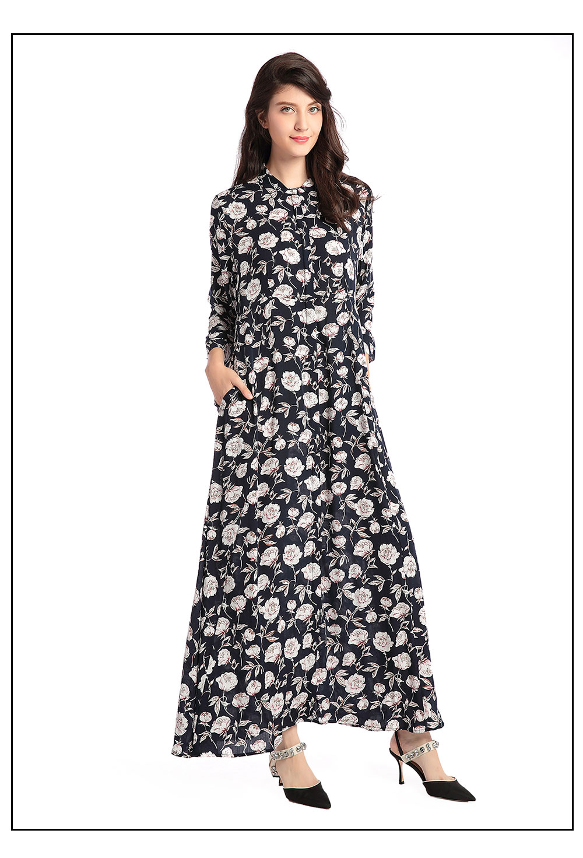 Shirt Femmes Bohème Islamique Caftan Acheter Abaya Maxi Occasionnel lTKJcF1