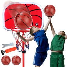 Kids Outdoor Toy Sports Enfant Adjustable basketball stand Sport Set Inflatable ball Funny Sports children Interactional toy