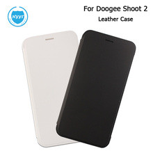 Buy 5.0inch Filp Cover Leather Case Doogee Shoot 2 Original Cellphone Protective Skin Cover Doogee Shoot 2 +Tempered Glass for $8.79 in AliExpress store
