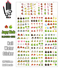 11 Sheets/Lot Art Nail BLE1588-1598 Red Bird and Green Pig Nail Art Water Wraps Sticker Decal for Nail Fashion(11 DESIGNS IN 1)(China)