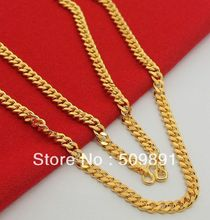 NE1561 Chunky Gold Chain Link Necklace 5mm Width Fashion Jewelry 24k Gold Vacuum Plating Men Best Selling Gifts