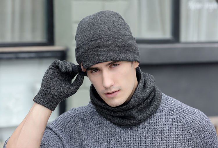 scarf gloves hat set women men winter scarf hat set winter hat scarf and glove set smart touch screen texting gloves set (17)