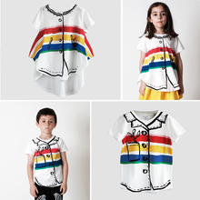 Bobo Choses 2017 Brand Baby Wolf And Rita Kikikids Nununu Boys Rainbow T-shirt Girl Summer T Shirt High Quality