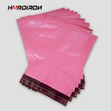 HARD IRON Pink Red color envelope packaging mailing custom size bags Courier mailer express pouches Rose Red(China)