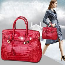 Quality Guaranteed~Fashion Crocodile Patten Women Genuine Leather handbag\Bag Designer ladies' Tote Shoulder Bag~16B8