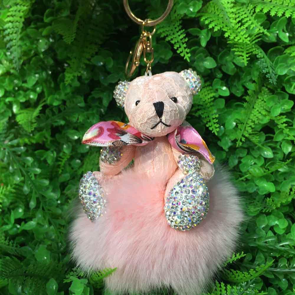 bear fox fur keychain 9 (8)