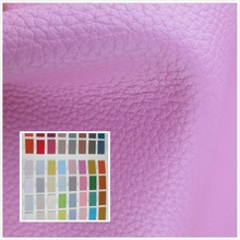 Litchi grain style 1.2mm faux leather fabric 78 color durable PU synthetic leather textile fabric for sofa bag belt shoes