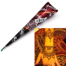 1 Piece Brown Color Henna Mehandi Cone 2017 Hot Hand Body Art Paint Makeup DIY Drawing Indian Henna Tattoo Paste Cone Waterproof