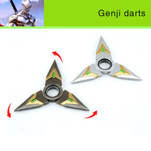 The new 2016 Rotate the darts genji Zinc alloy 9.7 CM dart model OW Surrounding the game 1-1 toy model A favorite of gamers