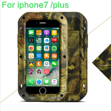 Original LOVE MEI Camo Series Extreme Powerful Waterproof Cover For iphone7 plus 7plus ShockProof Dirtproof Metal Case retailed(China)