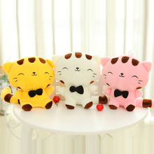 1pc 10'' 25cm Lovely Big Face Cat Plush Toy Stuffed Animal Cat Doll for Baby Kids Children's Gift Home Decoration Throw Dolls