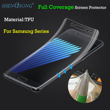 SHENGSONG Full Cover TPU Film Screen Protector For Samsung Galaxy S6 S7 Edge Plus S8 Plus Cover Curved Part (Not Tempered Glass)